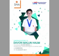 sna Congratulations to IJMO Silver Medalist - singapore national academy (international school)